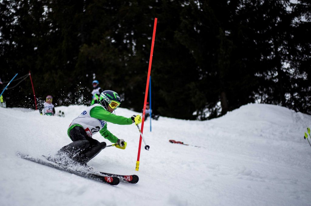 Telemark skiing is a great option for kids, because the equipment is lighter, and it allows for easier mobility.